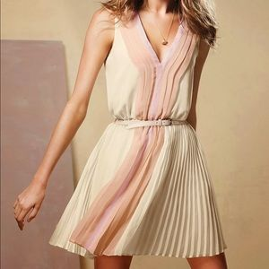 Victoria's Secret Pleated Pink and Cream Dress